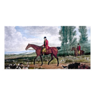 Huntsman to his majestys harriers picture card