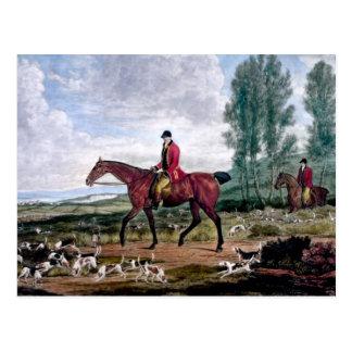 Huntsman to his majestys harriers postcard