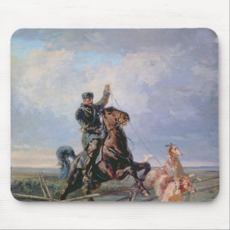Huntsman with the Borzois, 1872 Mousepads