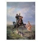 Huntsman with the Borzois, 1872 Postcard