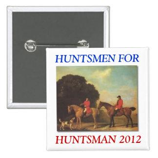 Huntsmen para el botón del Huntsman Pin Cuadrado