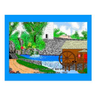Huntsville AL.April 14,1823 Pump Station #1 Postcard