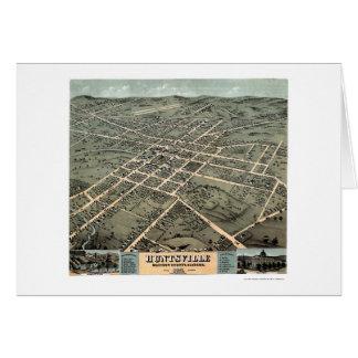 Huntsville, AL Panoramic Map - 1871 Greeting Card