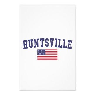 Huntsville AL US Flag Stationery