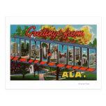 Huntsville, Alabama - escenas grandes de la letra Tarjeta Postal