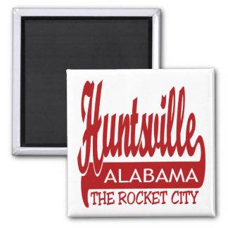 Huntsville, Alabama la ciudad de Rocket Imán Cuadrado