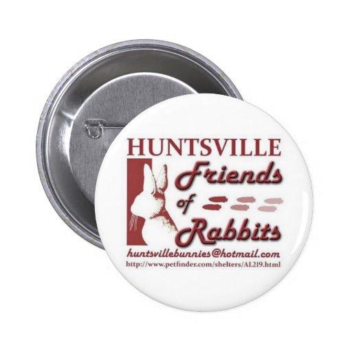 Huntsville Friends of Rabbits 2 Inch Round Button