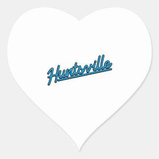 Huntsville in cyan heart sticker