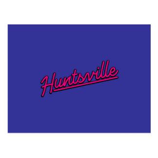 Huntsville in magenta postcard