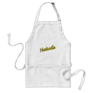 Huntsville in yellow adult apron