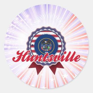 Huntsville UT Round Stickers
