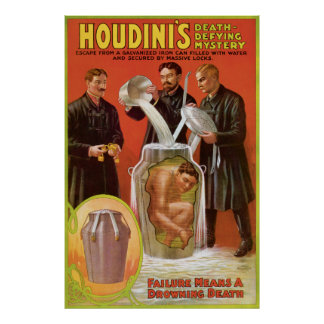 Huodini's Death Defying Mystery, 1908 Poster
