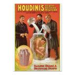 Huodini's Death Defying Mystery, 1908 Poster Custom Invites