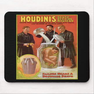Huodini's Death Defying Mystery, 1908 Poster Mouse Pads