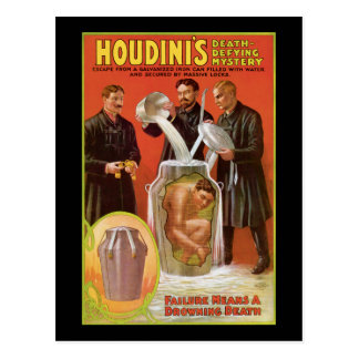 Huodini's Death Defying Mystery, 1908 Poster Postcard