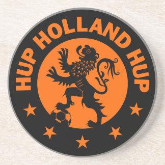 Hup Holanda - color de fondo Editable Posavasos Personalizados