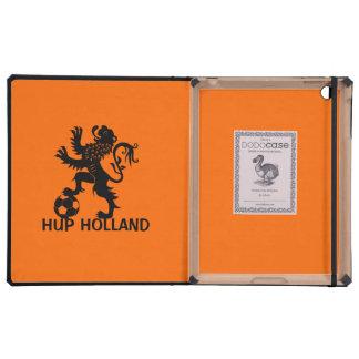 Hup Holanda - león holandés negro del fútbol iPad Protector