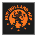 Hup Holland - Editable Background color Canvas Prints