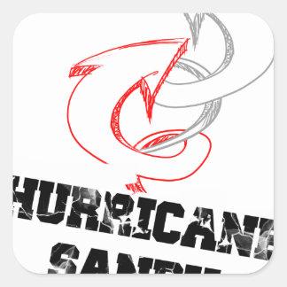 huracán arenoso pegatina cuadrada
