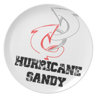 huracán arenoso plato de comida