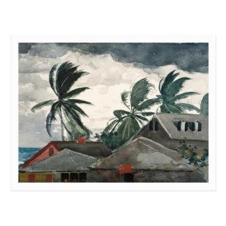 Huracán, Bahamas de Winslow Homer Tarjetas Postales