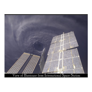 Huracán de la estación espacial tarjeta postal