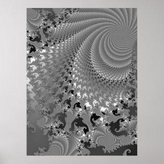 Huracán del cordón gris póster