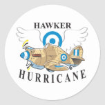 huracán del vendedor ambulante pegatina redonda