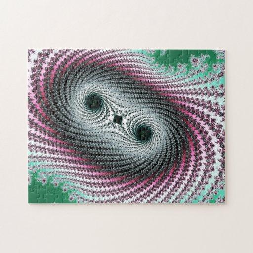 Huracán doble - diseño del fractal rompecabeza con fotos
