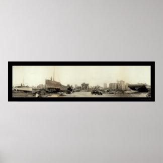 Huracán en la foto 1926 de Miami Póster