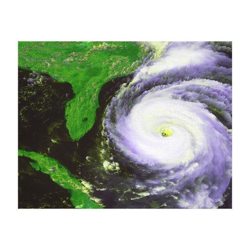 Huracán Fran de la Florida - imagen de 1996 satéli Impresión En Lienzo Estirada