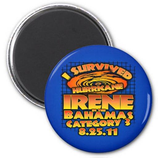 Huracán Irene - Bahamas Imán Redondo 5 Cm