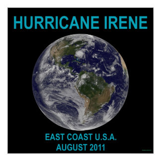Huracán Irene impresión del poster de 3 pies