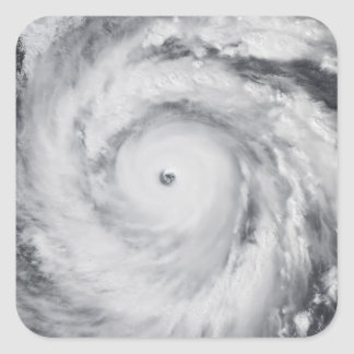 Huracán Jangmi Pegatina Cuadrada