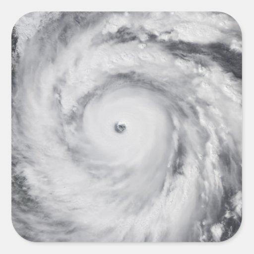Huracán Jangmi Pegatina Cuadradas