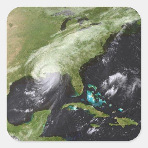 Huracán Katrina 4 Pegatina Cuadrada