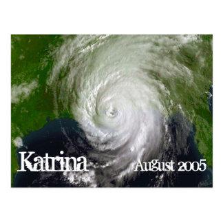 Huracán Katrina, imagen por satélite, agosto de Tarjeta Postal