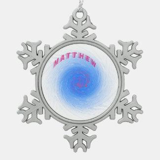 Huracán Matthew Adorno De Peltre En Forma De Copo De Nieve