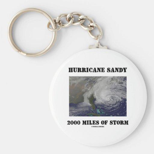 Huracán Sandy 2000 millas de tormenta Llavero Personalizado
