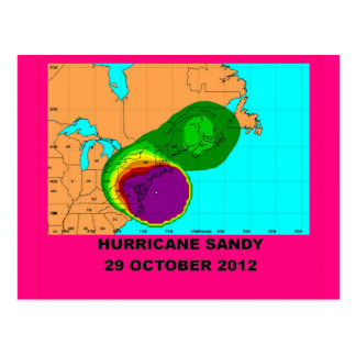 Huracán Sandy 29 de octubre de 2012 Postal