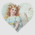 Huracán Sandy - ángel azul del navidad del Pegatina Corazon