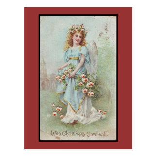 Huracán Sandy - ángel azul del navidad del Tarjetas Postales