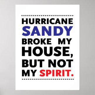 Huracán Sandy de Frankenstorm Póster