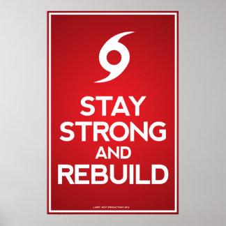 Huracán Sandy - estancia fuerte y reconstrucción Póster