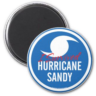 Huracán Sandy Imán Redondo 5 Cm