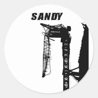 Huracán Sandy Pegatina Redonda