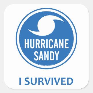 Huracán Sandy Pegatina Cuadrada