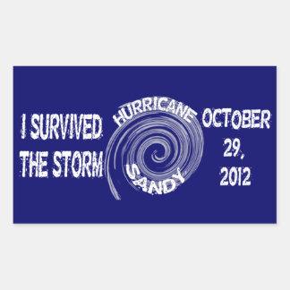 Huracán Sandy Pegatina Rectangular