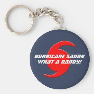 ¡Huracán Sandy - qué un chulo! Llavero Redondo Tipo Pin
