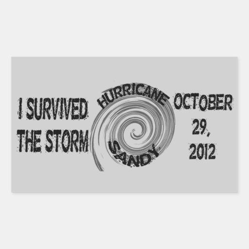 Huracán Sandy Rectangular Pegatina